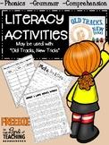 LITERACY ACTIVITIES {FREE}