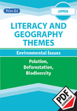 LITERACY AND GEOGRAPHY: ENVIRONMENTAL ISSUES -POLLUTION/ DEFORESTATION/ BIODIV.