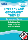 LITERACY AND GEOGRAPHY: GLOBAL WARMING/ OZONE DEPLETION/SOIL DEGRADATION