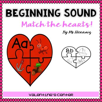 LITERACY BUNDLE Valentine's Centers for PreK&Kinder:rhyming,sounds,syllables...