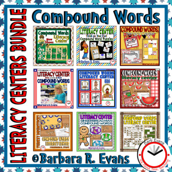 LITERACY CENTERS BUNDLE Compound Words Centers and Puzzles