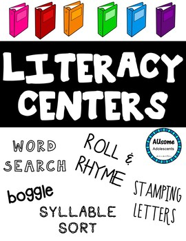 LITERACY CENTERS (Special Education, Elementary, Autism Classrooms)