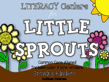 LITERACY Centers for Little Sprouts {Plants - Common Core Aligned!}