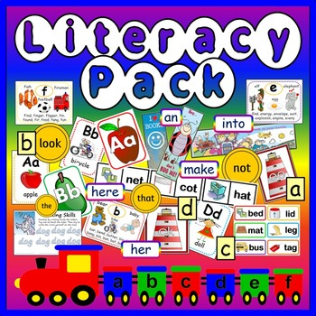 LITERACY ENGLISH BUMPER PACK - EARLY YEARS, KEY STAGE 1, ALPHABET, PHONICS, HFW