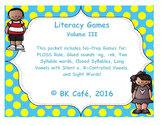 LITERACY GAMES Vol. 3