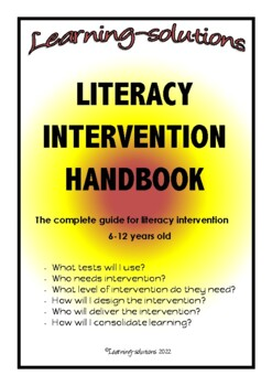 LITERACY INTERVENTION HANDBOOK - the HOW and WHAT of literacy intervention