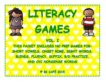 LITERACY GAMES VOL. 1