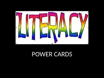 LITERACY POWERPOINT FLASH CARDS
