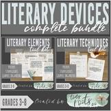 LITERARY DEVICES COMPLETE BUNDLE | Grades 3-5 | Literary E