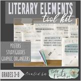 LITERARY ELEMENTS TOOL KIT | Grades 3-5 | Study Guides, Po