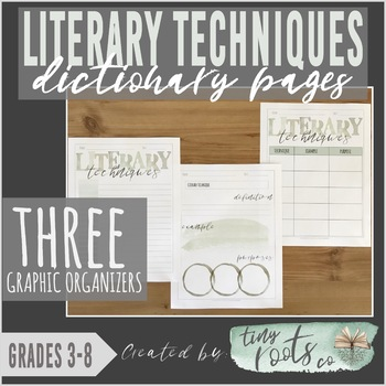 LITERARY TECHNIQUES DICTIONARY PAGES | Grades 3-5 | Figurative Language