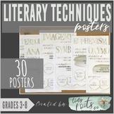LITERARY TECHNIQUES POSTERS | Grades 3-5 | Figurative Lang