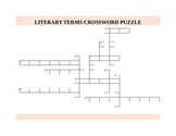 LITERARY TERMS CROSSWORD PUZZLE WITH ANSWER KEY