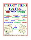 Literary Terms Posters: The Top 15  (15 Pages, $6)