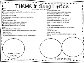 LITERARY THEME IN SONG LYRICS