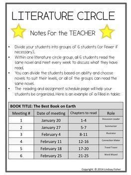 LITERATURE CIRCLE - NO PREP - Grades 4-7