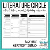 LITERATURE CIRCLE worksheet pack- GROWING- accountability