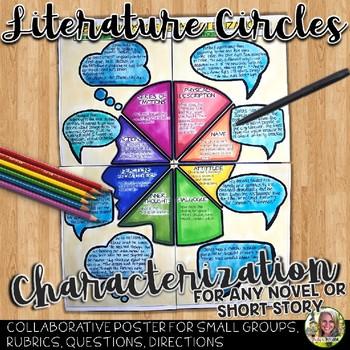 LITERATURE CIRCLES, CHARACTERIZATION POSTER FOR ANY NOVEL OR SHORT STORY