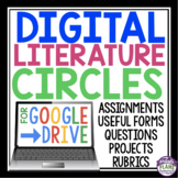 DIGITAL LITERATURE CIRCLES FOR GOOGLE DRIVE | DISTANCE LEARNING