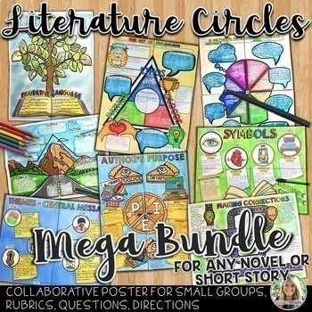 LITERATURE CIRCLES, POSTERS FOR ANY NOVEL, SHORT STORY, OR TEXT MEGA BUNDLE