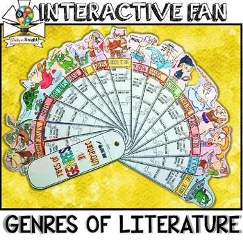 LITERATURE GENRES, FILL IN ORGANIZER, TYPES OF READING, INTERACTIVE FAN