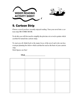 LITERATURE WORKSHEETS TO USE WITH ANY BOOK- ENCOURAGING WIDER READING-