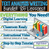 TEXTUAL EVIDENCE and ANALYSIS - LITERATURE PROMPTS BUNDLE!!  76 Lessons!!