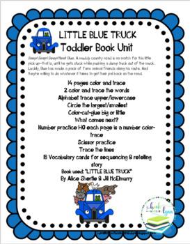 LITTLE BLUE TRUCK TODDLER BOOK UNIT