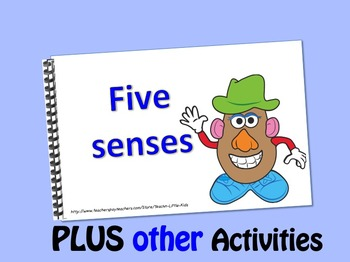 Mr. Potato has 5 senses LITTLE INTERACTIVE BOOK plus activities