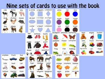 LITTLE INTERACTIVE BOOK:  Things I see--  Early Vocabulary set