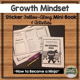 Growth Mindset Follow-Along Sticker Mini-Book and Goal Making Chart and Wkshts