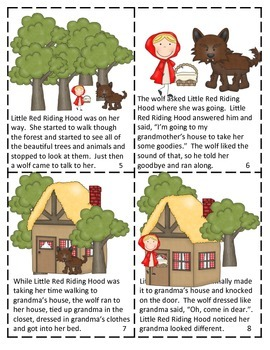 LITTLE RED RIDING HOOD Mini Reader