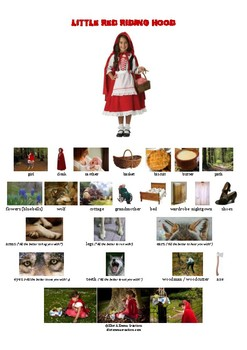 LITTLE RED RIDING HOOD - STORY - PICTIONARY
