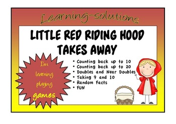 NUMBER FACTS - LITTLE RED RIDING HOOD TAKES AWAY - 5 Board Games for Subtraction