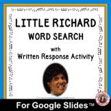 LITTLE RICHARD Word Search and Research Activity for Use w
