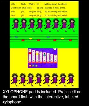 LITTLE SALLY WALKER - Game Song- titi, ta & rest- d-m-s-l- INTERACTIVE SMART