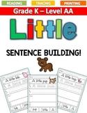 LITTLE Sentence Building LEVEL AA