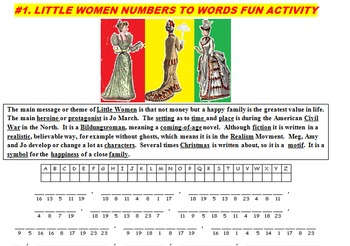 LITTLE WOMEN RETOLD (FUN ACTIVITIES, CCSS, TESTS, 43 PAGES)