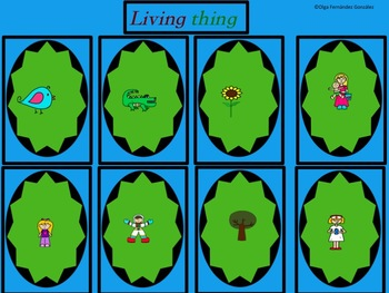 BILINGUAL LIVING NON-LIVING THINGS GAMES (3  GAMES) SPANISH AND ENGLISH