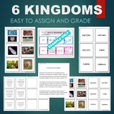 LIVING THINGS- 6 KINGDOMS (Archaea, Bacteria, Fungi, Protista, etc) Sort & Match