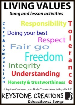 A curriculum-aligned song highlighting the government's 9 values for schools