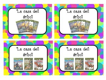 Library Book Boxes Labels SPANISH