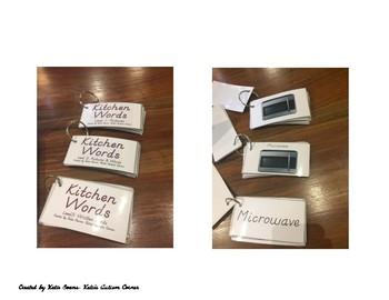 LIfe Skills Flip Book Flash Cards- Set 1: Kitchen Words