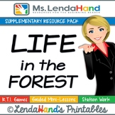 Reading Street, LIFE IN THE FOREST, Teacher Pack by Ms. Lendahand:)
