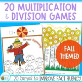 Multiplication and Division games - Fall Themed