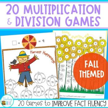 Multiplication and Division games (Fall Theme)