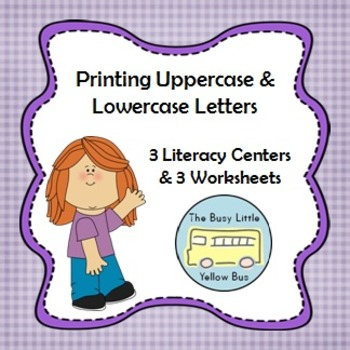 L.K.1.A Printing Uppercase & Lowercase Letters