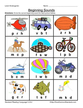 L.K.2 Kindergarten Common Core Worksheets, Activity, and Poster
