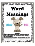 L.K.4 Kindergarten Common Core Worksheets, Activity, and Poster