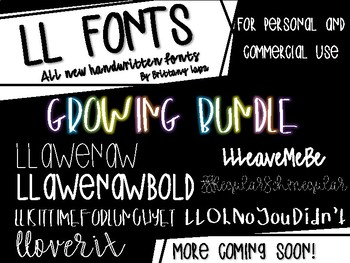 LL Fonts *GROWING BUNDLE*